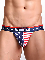 Hot! Fashion Design National Flag Men's Retro  Sheers Ultra Sexy Panties Briefs  Underwear  Low Waist  Beachwear Swimwear