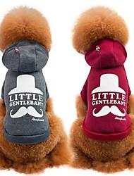 preiswerte -Hund Pullover Hundekleidung Lässig/Alltäglich Urlaub Modisch Sport Cartoon Design Grau Fuchsia Kostüm Für Haustiere