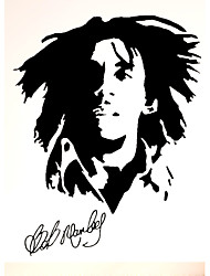 cheap -Bob Marley Jamaica Famous Singer Wall Stickers Bob Marley Music Character Figure Wall Decals Home Decor For Baby Kids Room Living Room