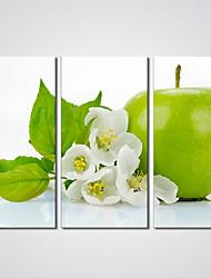abordables -Impression sur Toile Trois Panneaux Toile Format Horizontal Imprimé Décoration murale For Décoration d'intérieur