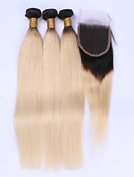 Ciocche con tessitura Brasiliano dritto 12 mesi 4 pezzi tesse capelli kg Onde