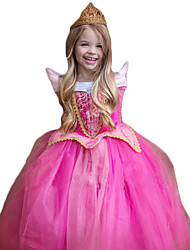 cheap -Princess Cosplay Costume Christmas Children's Day New Year Festival / Holiday Halloween Costumes Outfits Rose Sparkling Glitter Lace