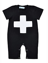 Baby Geometic One-Pieces,Cotton Spring/Fall Summer Short Sleeve