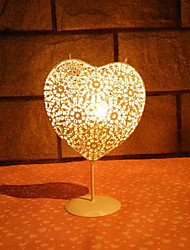cheap -Retro Moroccan Style Candle Holder Heart Shape Vintage Iron Candlestick Candle Lantern Home Garden Wedding Decoration