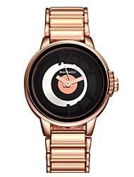 abordables -Mujer Reloj de Pulsera Reloj de Moda Cuarzo Gran venta Aleación Banda Encanto Dorado Oro Rosa