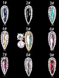 1 Chiodo decorazione di arte strass Perle Cosmetici e trucchi Fantasie design per manicure