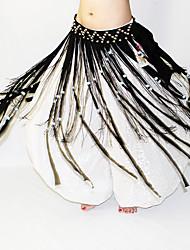 Danza del ventre Cintura per danza del ventre Per donna Esibizione Poliestere Perline 1 pezzo Cintura