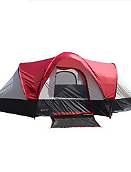 > 8 persone Tenda Doppio Tenda da campeggio Due camere Tenda ripiegabile Ompermeabile Antivento Anti-pioggia Crema solare Protezione