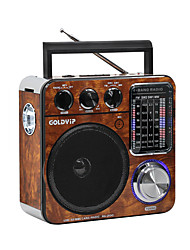 baratos -FM / AM Rádio portátil Player MP3 / Lanterna Cartão TF Receptor do mundo Preto / Marron