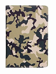 cheap -Case For Apple iPad Mini 4 iPad Mini 3/2/1 Card Holder Wallet with Stand Pattern Full Body Cases Camouflage Color Hard PU Leather for