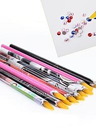 1PCS Nail Art Tool Point Drill Pen Crayon Color Random