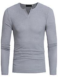 preiswerte -Herrn Solide Alltag Sport Arbeit Freizeit Aktiv Chinoiserie Pullover Langarm V-Ausschnitt Winter Herbst Baumwolle