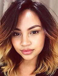 Ombre Color Lace Front Bob Human Hair Wigs Body Wave with Baby Hair 150% Density Brazilian Virgin Hair Short Wig for Woman