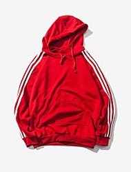 Men's Plus Size Personality Sports Slim Striped Hooded Sweatshirt