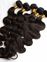 cheap -Brazilian Hair Body Wave / Loose Wave Natural Color Hair Weaves 5 Bundles 8-26 inch Human Hair Weaves Hot Sale Natural Black Human Hair Extensions