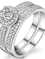 Dámské Široké prsteny Kubický zirkon Přizpůsobeno Luxus Klasické Základní Sexy láska Módní Cute Style Elegantní Zirkon Slitina Šperky