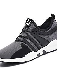 baratos -Homens Sapatos de Condução Tricô Outono / Inverno Conforto Tênis Corrida Preto / Cinzento