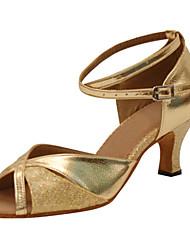 """economico -Da donna Balli latino-americani Similpelle Sandali Esibizione Paillettes A stiletto Oro Argento 3 """"- 3 3/4"""" Personalizzabile"""