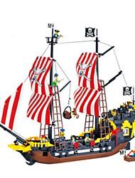 Недорогие -ENLIGHTEN Конструкторы Пираты Корабль Универсальные Мальчики Девочки Игрушки Подарок