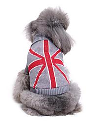 Cachorro Súeters Roupas para Cães Casual Bandeira Nacional Ocasiões Especiais Para animais de estimação