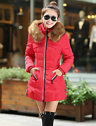 Hot!  S-4XL Plus Size Winter Women Parka Outerwear Duck Down Jacket With Large Fur Collar Plus Thickening Long Coat down jacket for girl