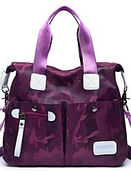 cheap -Women's Bags Canvas Tote Zipper for Casual Office & Career All Seasons Blue Black Purple Fuchsia