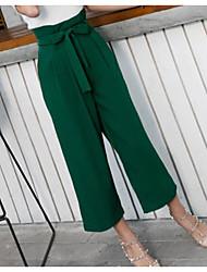 cheap -Women's Loose Wide Leg Pants - Solid Colored Pure Color