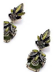 Per donna Orecchini a goccia imitazione diamante Pendente Di tendenza Euramerican Gioielli importanti Classico Acciaio al titanio Quadrato