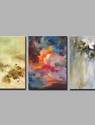 abordables -caos mundo 3 paneles decoración de la pared pinturas al óleo pintadas a mano sobre lienzo obras de arte moderno arte de la pared