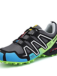 cheap -Men's Shoes Leatherette Spring Fall Comfort Athletic Shoes Hiking Shoes Split Joint for Athletic Casual Outdoor Red Green