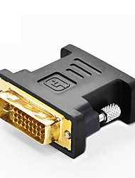 DVI Adapter, DVI to VGA Adapter Male - Female Vergoldetes Kupfer