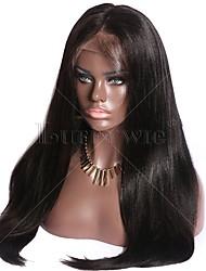 Hot Sale Peruvian Virgin Human Hair Yaki Straight Wig Glueless Deep Parting 13x6 Lace Front Wig Italian Yaki Human Hair Wig