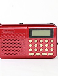 162 Radio portatil Reproductor MP3 Tarjeta TFWorld ReceiverRojo