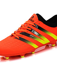 Men's Athletic Shoes Comfort Spring Fall PU Soccer Shoes Casual Lace-up Flat Heel Black Orange Light Yellow 2in-2 3/4in