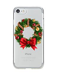 billige -Etui til iPhone 7 6 christmas tpu blødt ultra-tyndt bagside cover cover iphone 7 plus 6 6s plus se 5s 5 5c 4s 4