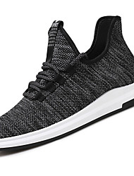 cheap -Men's Shoes Knit Spring Fall Comfort Sneakers Walking Shoes Lace-up For Casual Outdoor Black Beige Gray