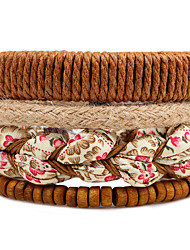 cheap -Men's Women's Strand Bracelet Wrap Bracelet - Flower Bohemian, Fashion Bracelet Brown For Casual Stage Date