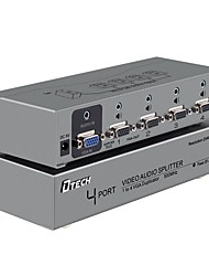 DTECH VGA Splitter VGA to VGA Splitter with Audio Plug Female - Female One Input Four Output