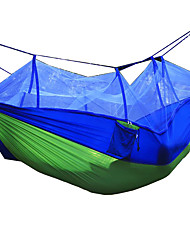 cheap -2 persons Camping Hammock with Mosquito Net Collapsible Anti-Mosquito Nylon for Camping Camping / Hiking / Caving Travel Outdoor