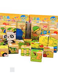 economico -Puzzle 3D Puzzle Gioco educativo Giocattoli Gatto Animali Animali Legno Non specificato Per bambini Pezzi