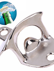 cheap -Wall Beer Opener Metal Retro Wall-Mounted Bottle Opener Wall Opener Kitchen Party Supplies --1pcs