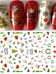 cheap -1 3D Nail Stickers Sticker DIY Supplies Christmas 3-D Fashion Daily High Quality