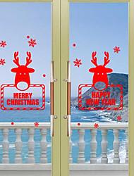 Natale Vacanze Adesivi murali Adesivi aereo da parete Adesivi decorativi da parete,Carta Materiale Decorazioni per la casa Sticker murale