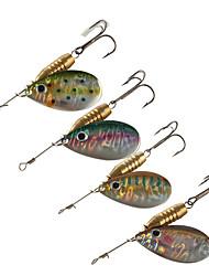 baratos -4pcs pçs Colheres Iscas Buzzbait & Spinnerbait Metalic Cobre Isco de Arremesso Rotação Pesca de Gancho Pesca de Água Doce Outro Pesca