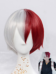 cheap -Synthetic Wig Straight Natural Wave Red Capless Cosplay Wig Short Synthetic Hair