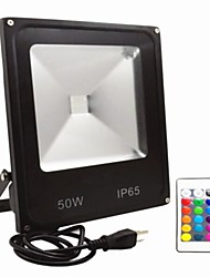 cheap -AC85-265V IP65 Waterproof 50W Remote Control Color RGB Colorful Outdoor Light LED Floodlight 1Pc