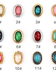 13 Manucure Dé oration strass Perles Maquillage cosmétique Nail Art Design