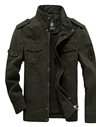 cheap -Men's Basic Jacket - Solid Colored Stand