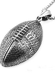 Fashion personality titanium steel stainless steel sports equipment rugby pendant casual sports can be