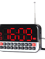 L-80 Portable Radio USB Card Clock Alarm LED Alarm Clock